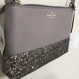 NWT Kate Spade ♠️ glitter cross body purse